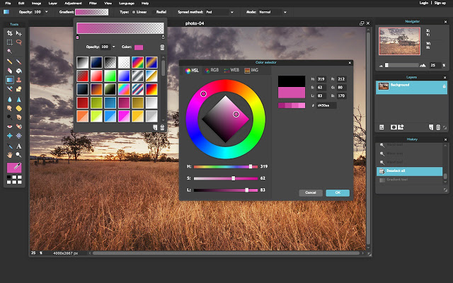 Pixlr Chrome extension