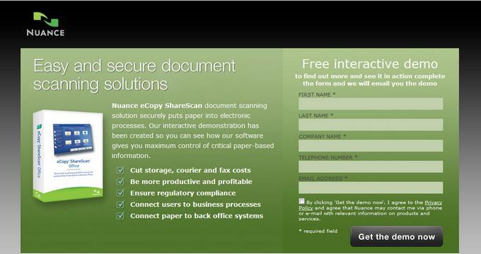 Web Design Sample Landing Page 2